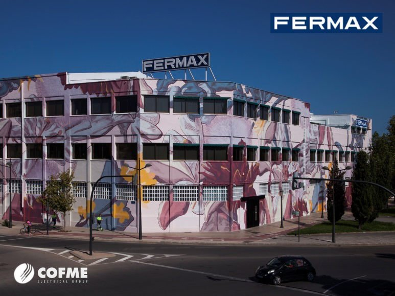 Argentine artist Pastel street art in FERMAX headquarters