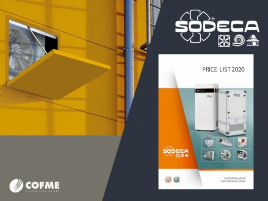 SODECA: Price List 2020 with interesting novelties