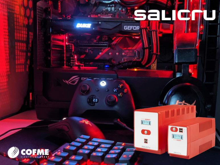 SALICRU promociona SPS SOHO + como solución ideal para videogamers