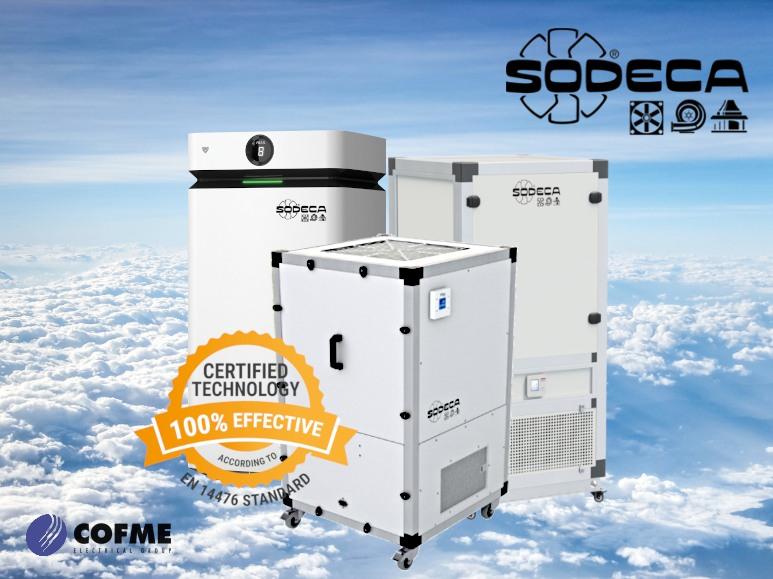 SODECA: air purifiers certified against Mengovirus